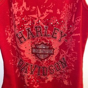 Bedazzled Harley Davidson tank size large